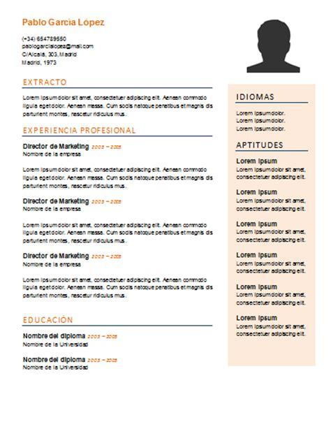 Ejemplo de curriculum vitae para rellenar png 405x525